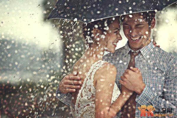 那么雨丝就会变短,形成雨滴的效果,让动态的景物瞬间静止下来.