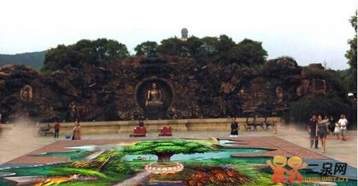 9月25日灵山景区3d立体画展震撼登场