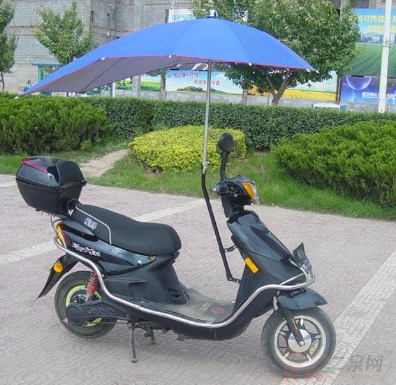 电动自行车遮雨棚-遮阳遮雨的 电动车伞