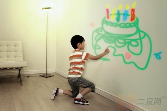 儿童涂鸦墙自己设计|东①居委