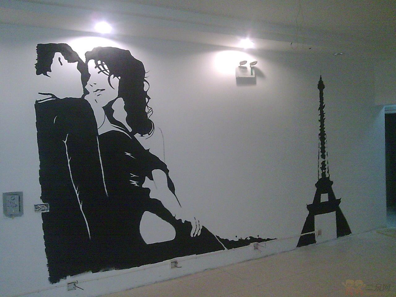 免费手绘墙设计 室内设计