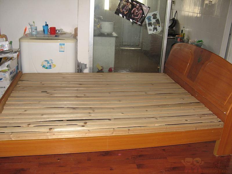 自制原生态木床