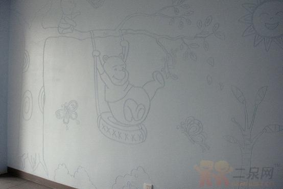 硅藻泥臥室天花板圖案星空