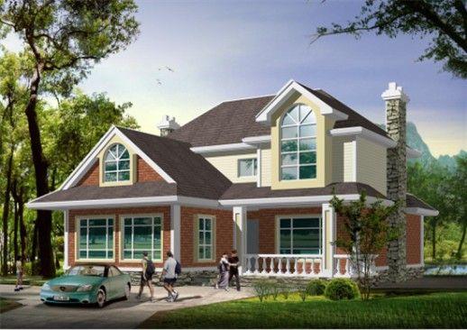坡屋顶新农村住宅设计效果图