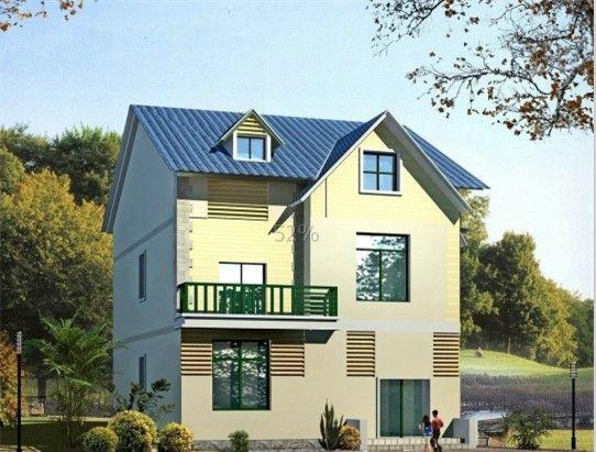 经济型新农村住宅设计效果图高清图片