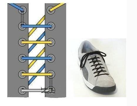 系鞋带的方法图解步骤图